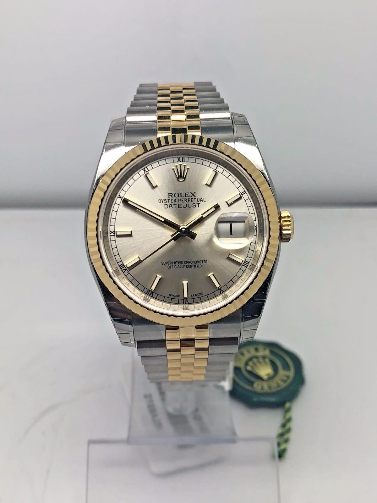 Rolex datejust 36 steel gold 116233 m r gold jewellers for Rolex date just 36
