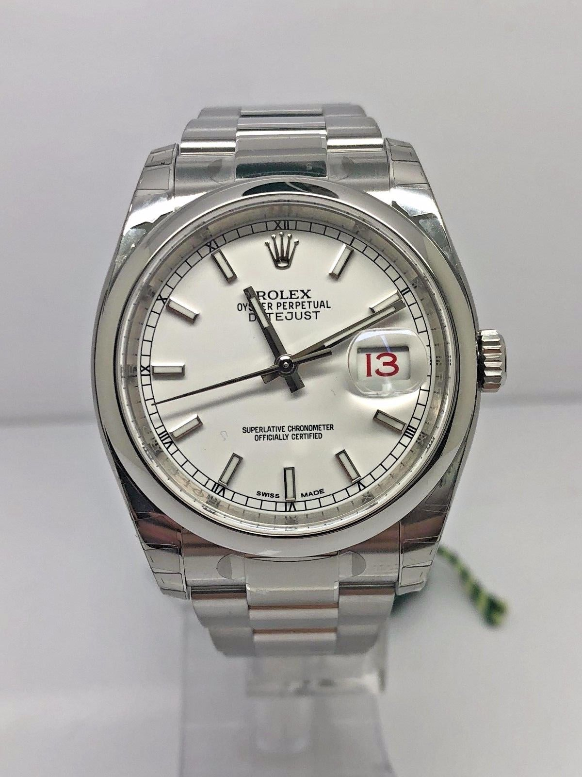 Rolex datejust 36 steel 116200 m r gold jewellers for Rolex date just 36